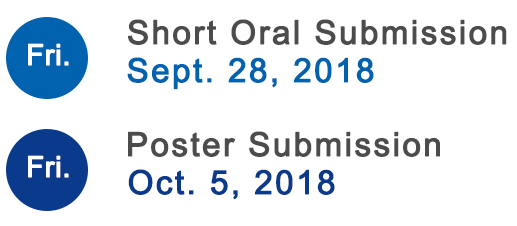 Short Oral submission deadline extended till September 28, 2018